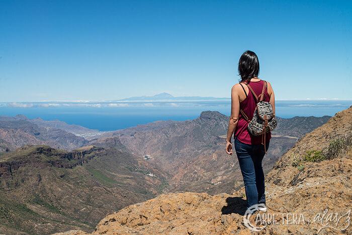 Vistas del Teide desde el Roque Nublo, Gran Canaria